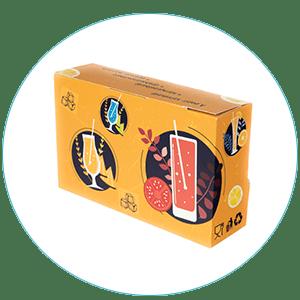 Kínáló dobozban papírszívószál